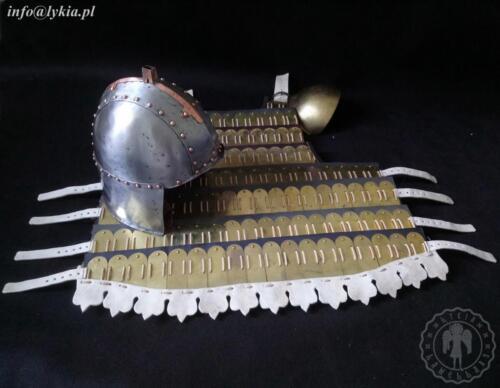 Brass klibanion with helmet from Kairouan
